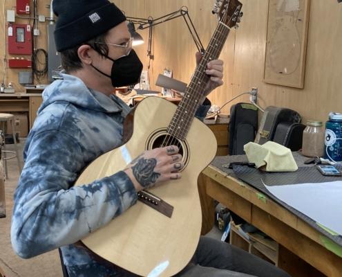 Roberto venn student work Fall 2020 Acosutic 1 495x400 Student Acoustics, Kretzmann Guitar Company & More
