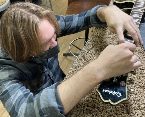 Roberto Venn Spring 2021 Electric Guitar Repair 495x400 Guitar Making, Guitar Repair and Pickup Winding with Rob Timmons of Arcane Inc.